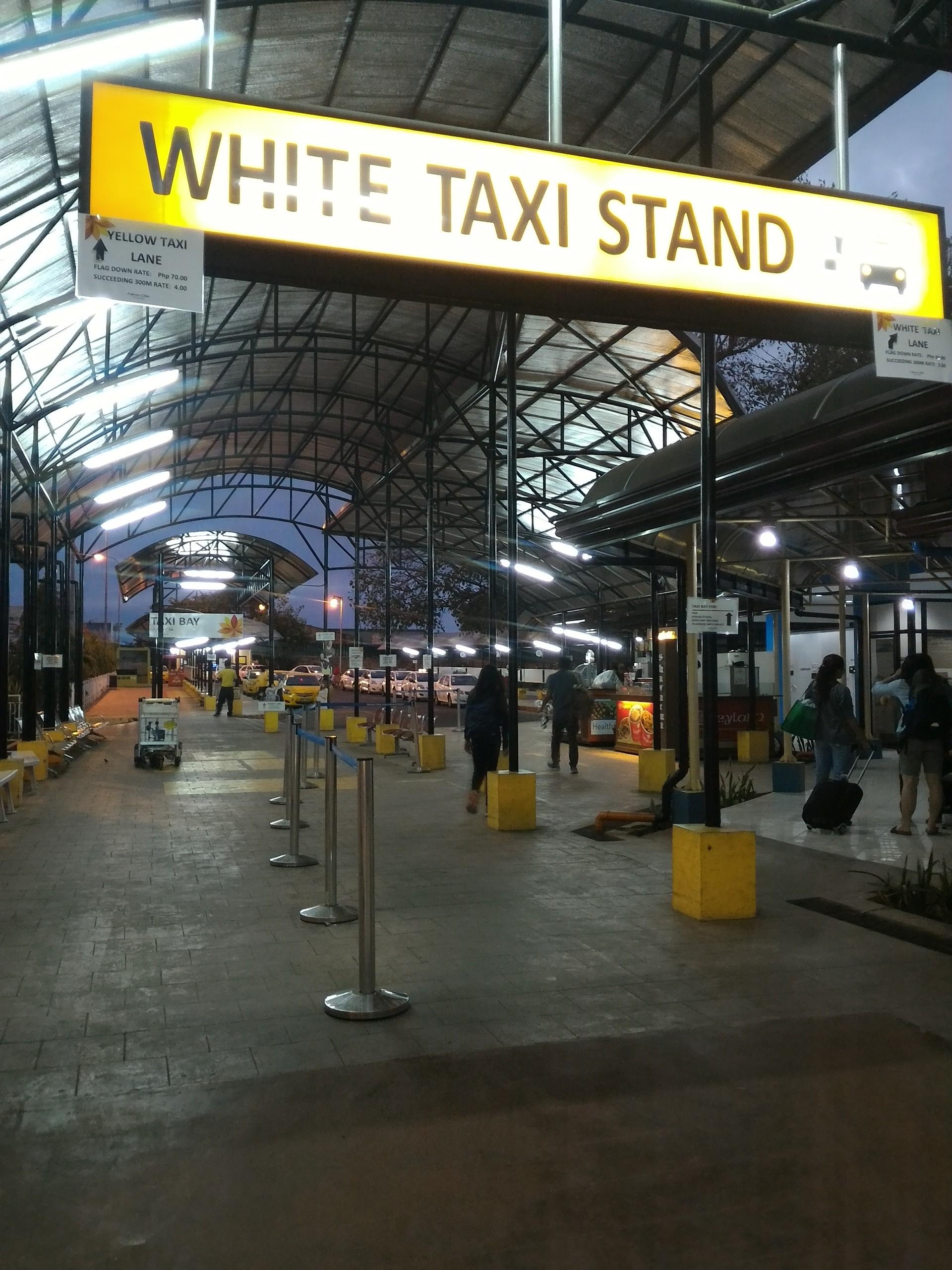 マクタン・セブ国際空港のメータータクシー乗り場